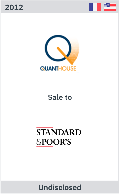 Quanthouse sale to Standard & Poor's