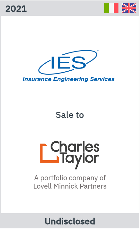 Zelig advises IES' shareholders on the sale of the business to Charles Taylor