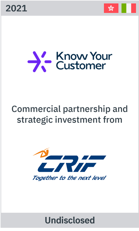 Zelig advises Know Your Customer on commercial partnership and strategic investment from CRIF