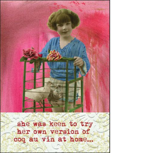 coq au vin greeting card