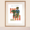 pigeons-on-brussels-sprouts-framed giclee print vintage recipe