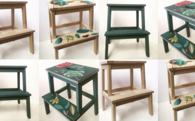 Transform a Bekvam stool: decoupage tutorial