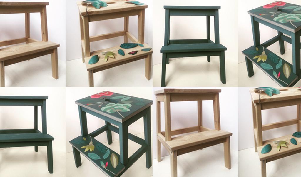 Transform a Bekvam stool: decoupage tutorial