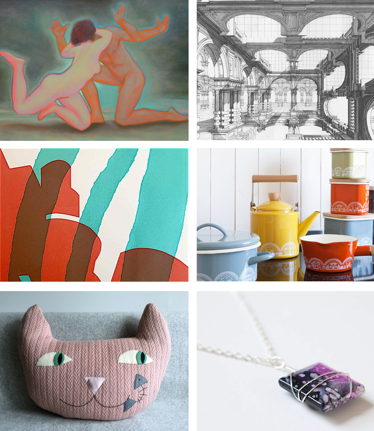 fine artists Emanuele Gori and Paul Draper, printmaker Pauline Amphlett, homewares by Mini Moderns, interior products by Mr & Mrs House and Norwegian crafts by Smed