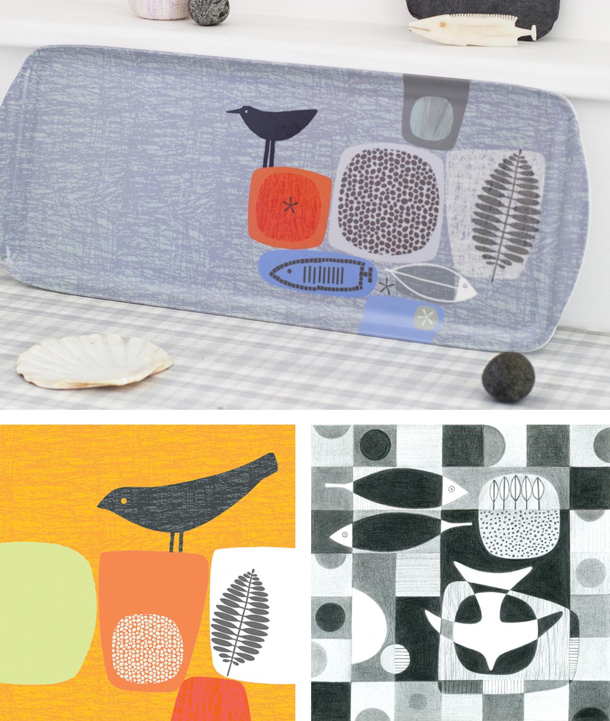 tray and prints by sarah hamilton