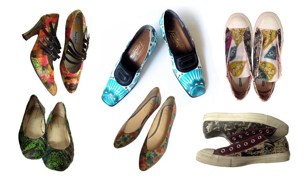 Shoe decoupage: an advanced tutorial