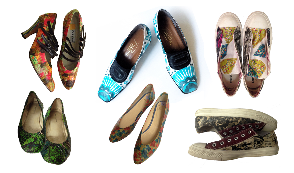 shoe decoupage by students