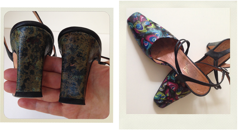decoupage shoes final result