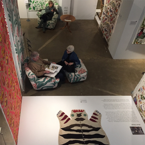 josef frank view of exhibition at fashion and textile museum