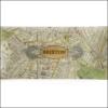 map of brixton decoupage glass dish