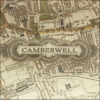 camberwell vintage map decoupage glass dish closeup