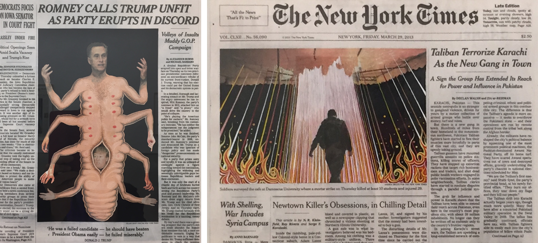 fred tomaselli new york times interventions, white cube mason's yard, 2017
