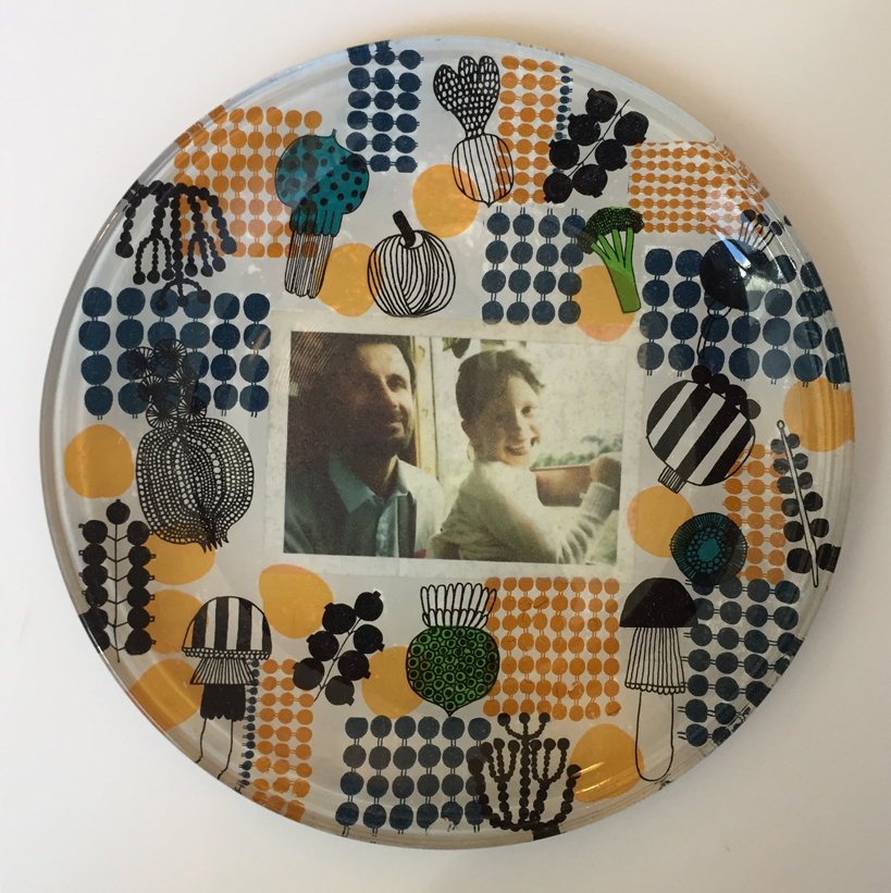 hen party glass plate decoupage Chrissy
