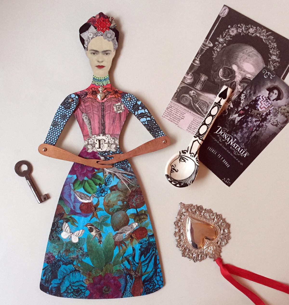 Frida Kahlo doll by Gabriela Szulman at 49 Peckarmans Wood, Dulwich Open House 2018