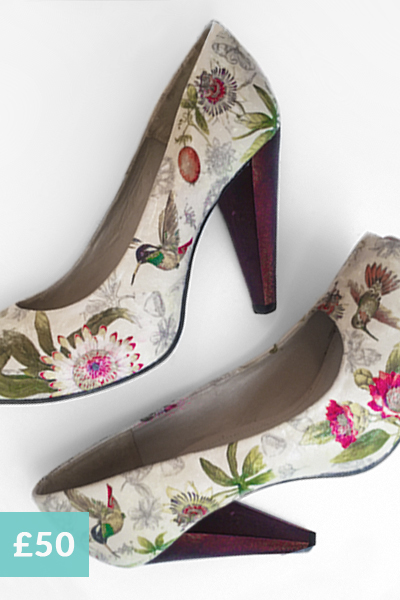 revamp your shoes with decoupage, decoupage on leather