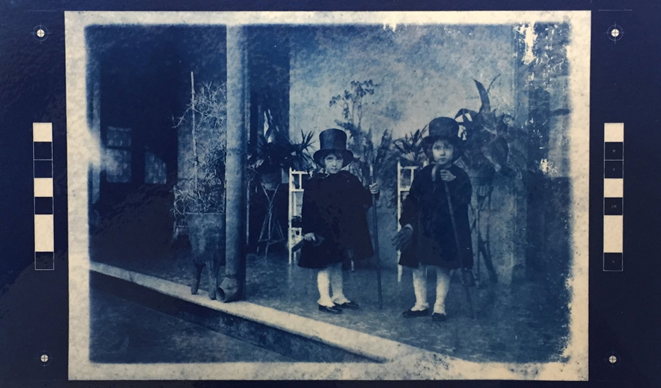 cyanotype print from photographic image by Gabriela Szulman