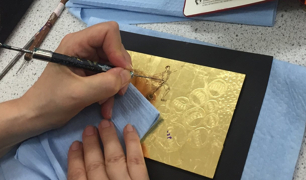 My Summer of learning part II: Verre Églomisé and Oil Gilding