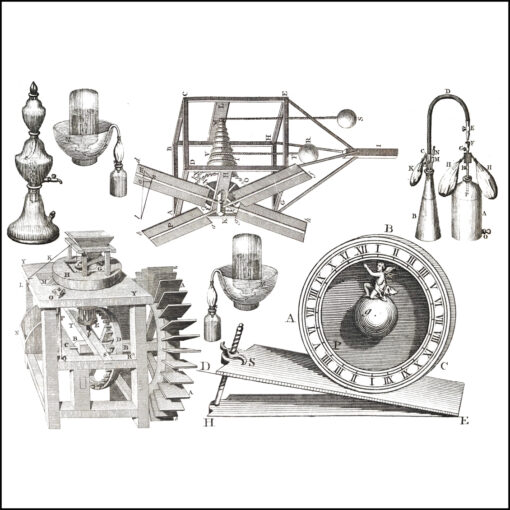 collage kit machinery illustrations 18th century encyclopaedia