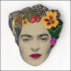 frida kahlo brooch with bird and yellow flower