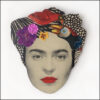 frida kahlo brooch with birds and purple flower