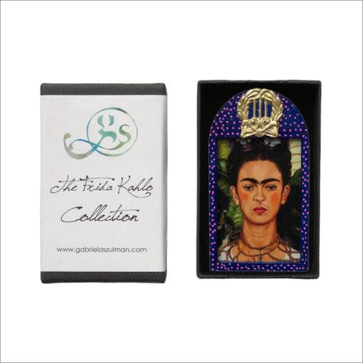 Frida Kahlo handmade art brooch