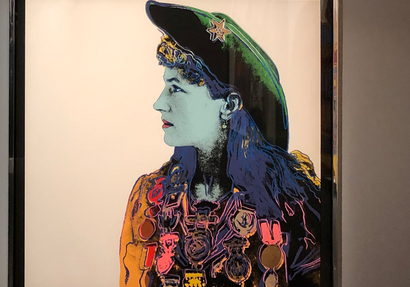 Andy Warhol cowboys and indians series Halcyon Gallery London W1