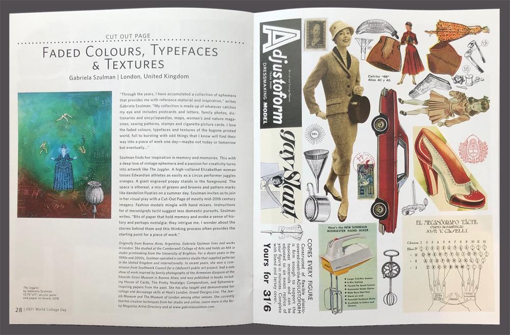 kolaj magazine World Collage day 2021 edition Gabriela Szulman cut out page