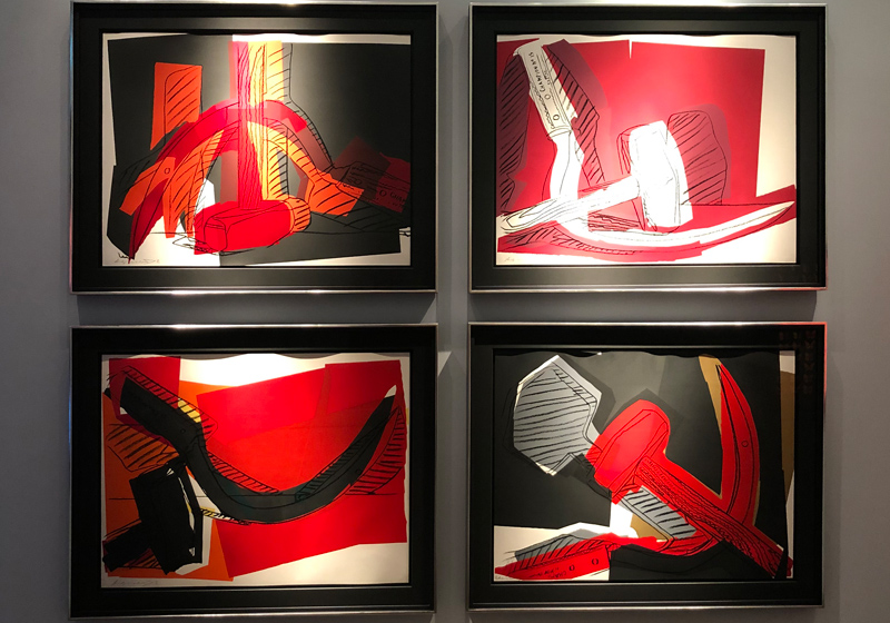 Andy Warhol hammer and sickle screenprints indians series Halcyon Gallery London W1