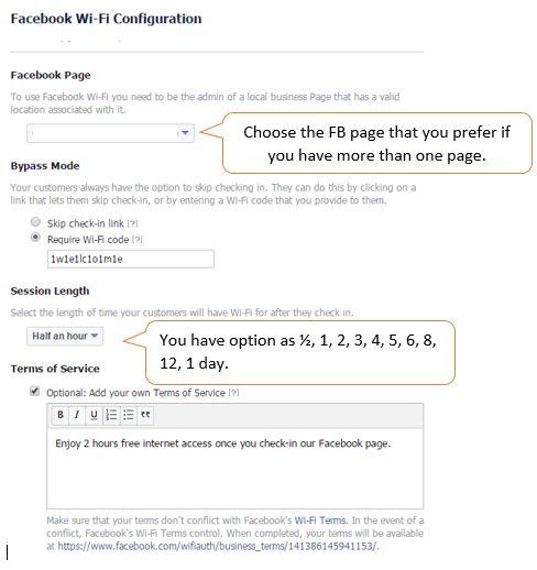 Meraki-facebook wi-fi-configuration
