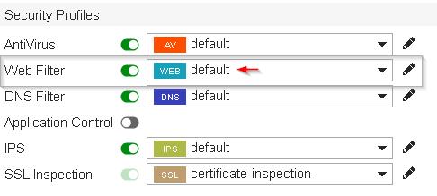 Fortigate IP Address Feed Web Filter