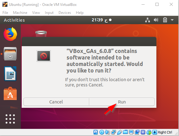 Ubuntu Install Guest Addition CD Image