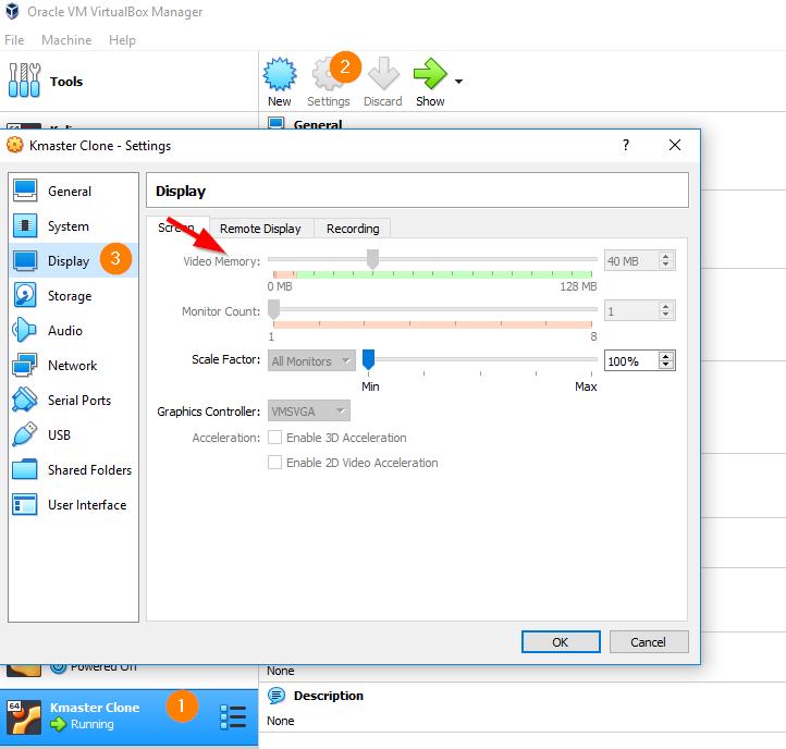 Ubuntu Orange Screen - VM Display Memory