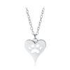 paw print heart silver