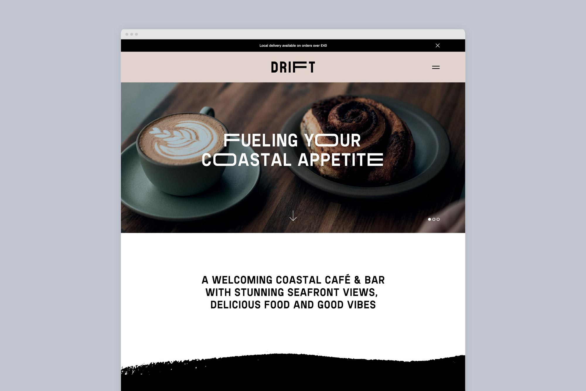 Drift Cafe And Bar Website Page Tremolo