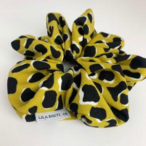 Lila Mustard Print Oversized Scrunchie