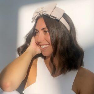 Lila Stone Double Bow Headband