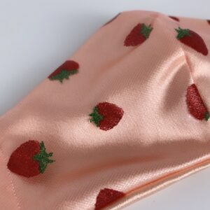 Lila Strawberry Satin Face Mask