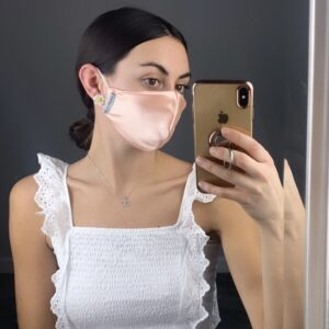 Lila Peach Satin Face Mask