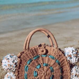 Lila Denim Beach Bag