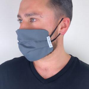 Lila Grey Face Mask