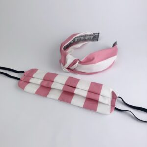 Lila Pink Striped Face Mask Set
