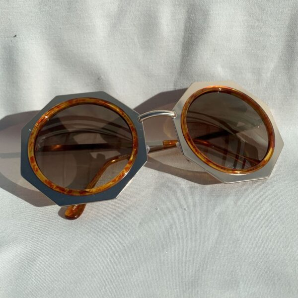 Lila Judy Hexagon Sunglasses