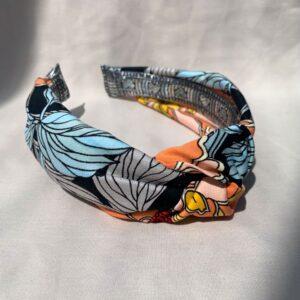 Lila Sunflower Turban Headband
