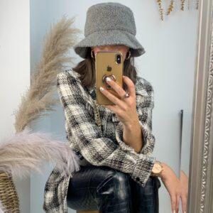Lila Grey Teddy Bucket Hat