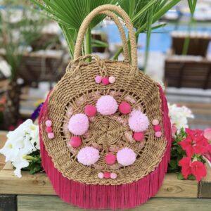 Lila Pink Fizz Beach Bag