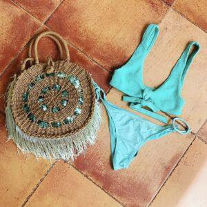 Lila Marina Beach Bag