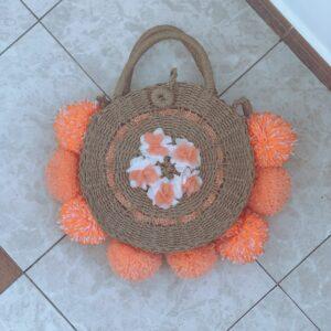 Lila Orange Rise Beach Bag