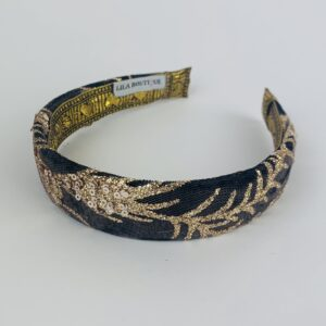 Lila Black and Gold Classic Headband