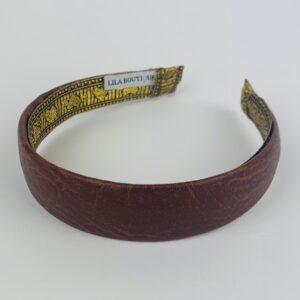 Lila Chestnut Leather Classic Headband
