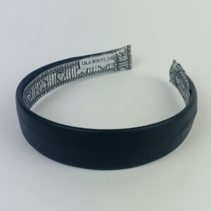 Lila Black Leather Classic Headband